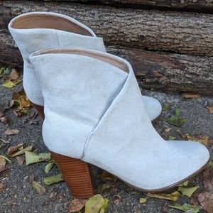 Joe's Jeans White Suede Ankle Boots